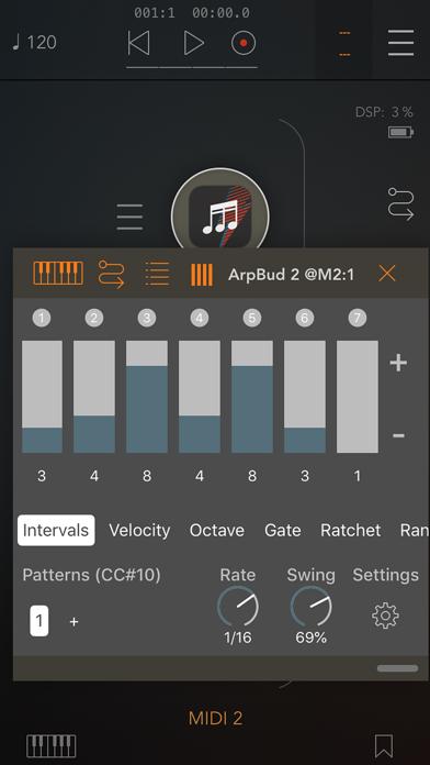 ArpBud 2 AUv3 MIDI Arpeggiator screenshot 3
