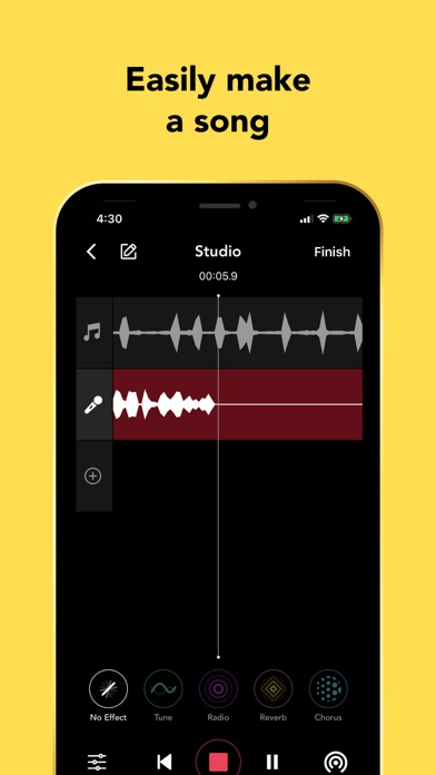 Rapchat: Record Songs, Audio Screenshot