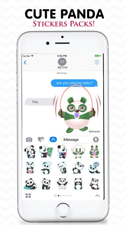 Cute Panda Stickers Pack! screenshot-3