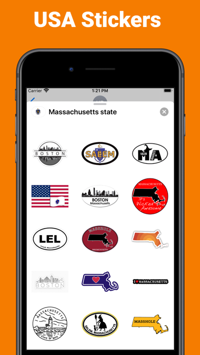 Massachusetts state USA emoji screenshot 2