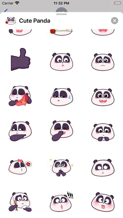 Cute Panda Head Emoji Stickers screenshot-3