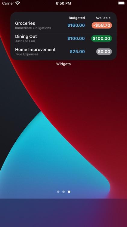 Widgets for YNAB