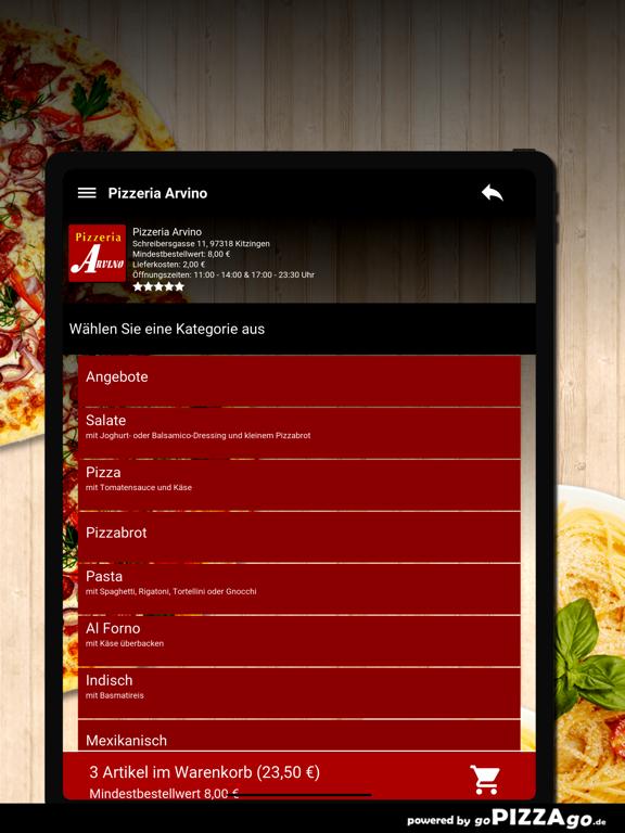 Pizzeria Arvino Kitzingen screenshot 8