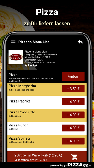 Pizzeria Mona Lisa Wessum screenshot 5