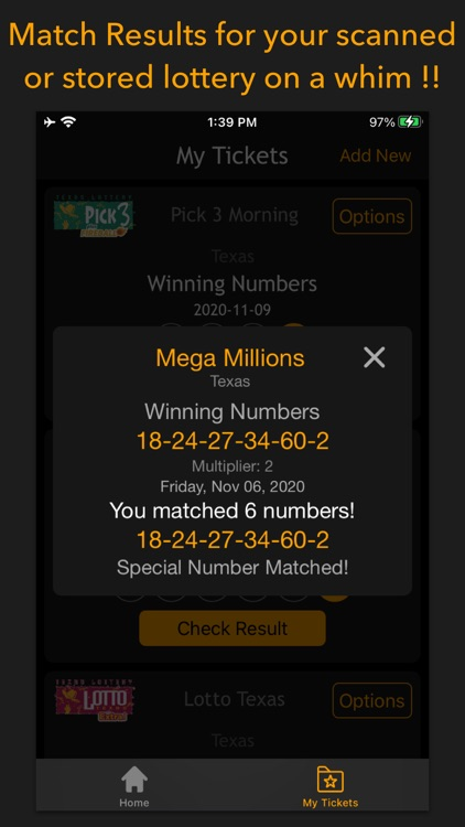 Lottery results-Ticket scanner screenshot-3