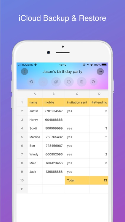 Simple Spreadsheet:Better list screenshot-4