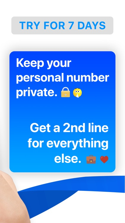 Numbers: Second Phone Number