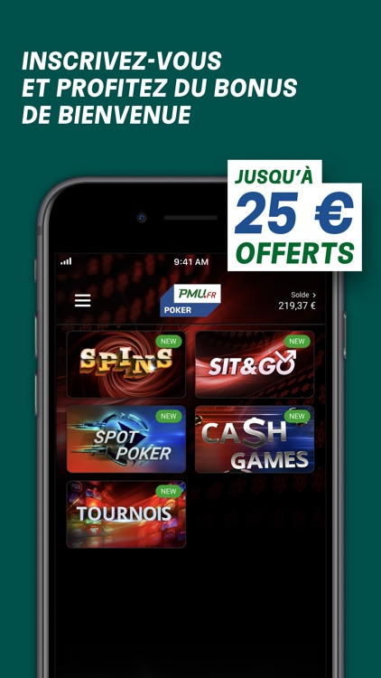 PMU Poker - Spins et Cash Game