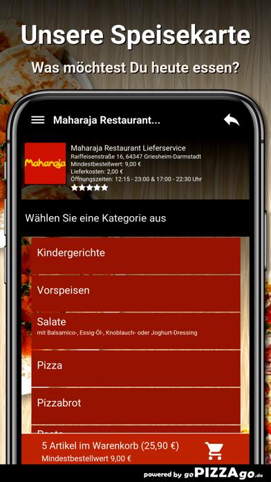 Maharaja Restaurant Liefer screenshot 4