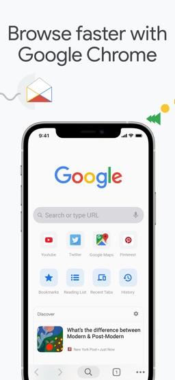 Google Chrome app screenshot