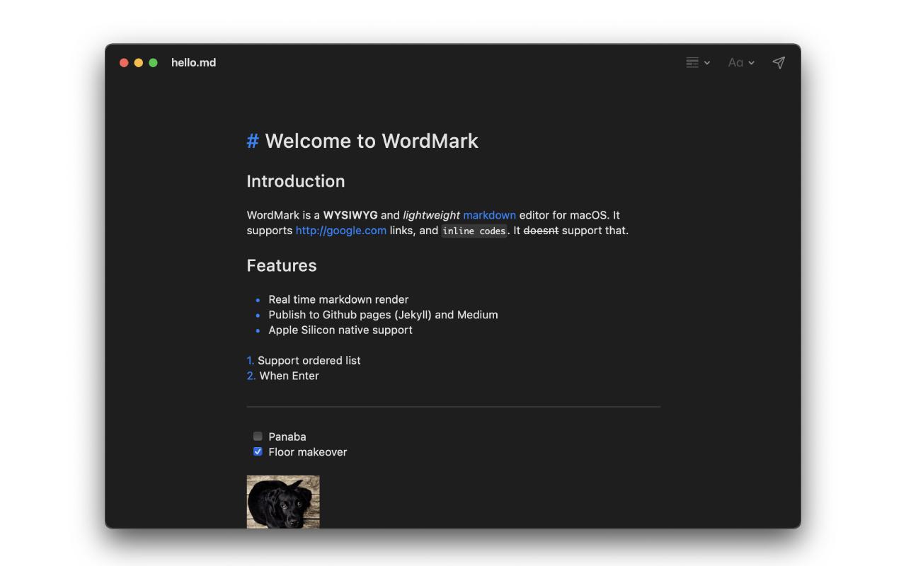 WordMark 49 Mac 破解版 Markdown编辑器