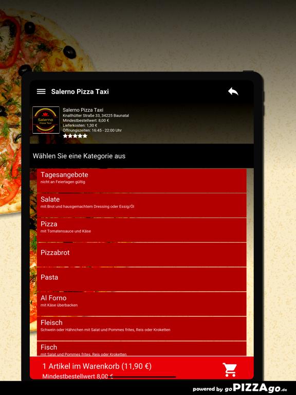 Salerno Pizza Taxi Baunatal screenshot 8