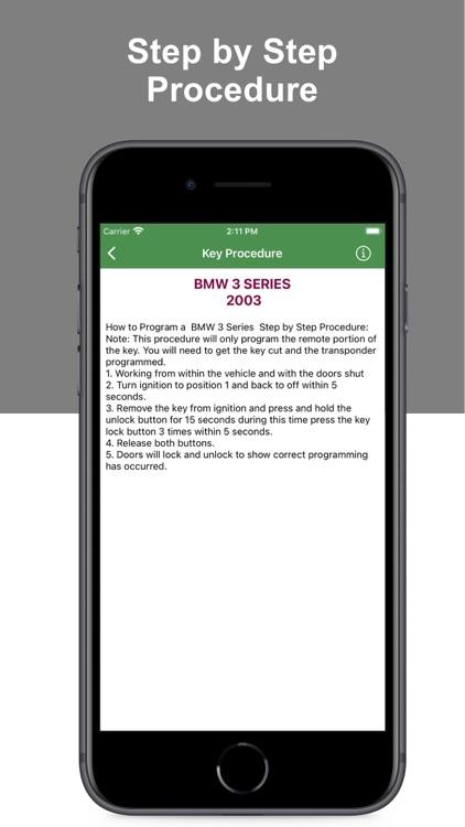 Key Programming Procedure Pro screenshot-5