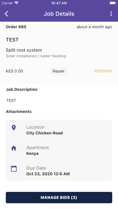 Screenshot of Plambasawa App
