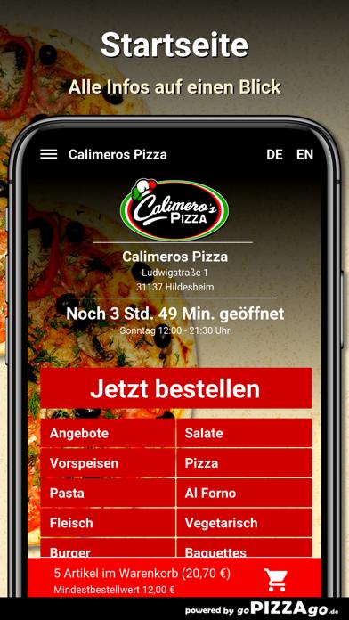 Calimeros Pizza Hildesheim screenshot 2