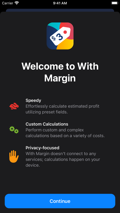 With Margin Screenshots