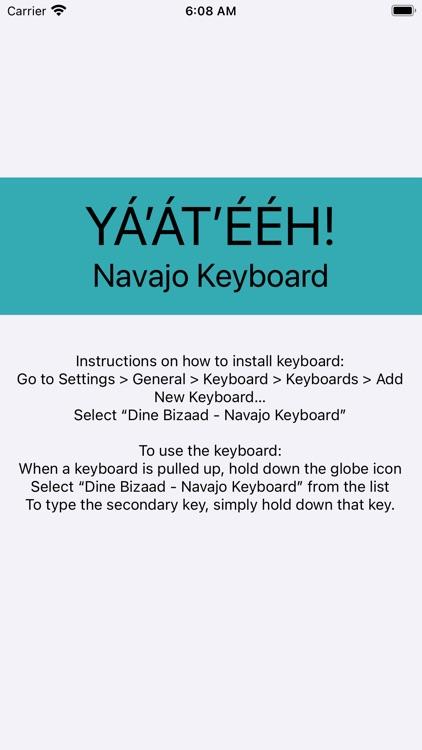 Mobile Navajo Dine Keyboard