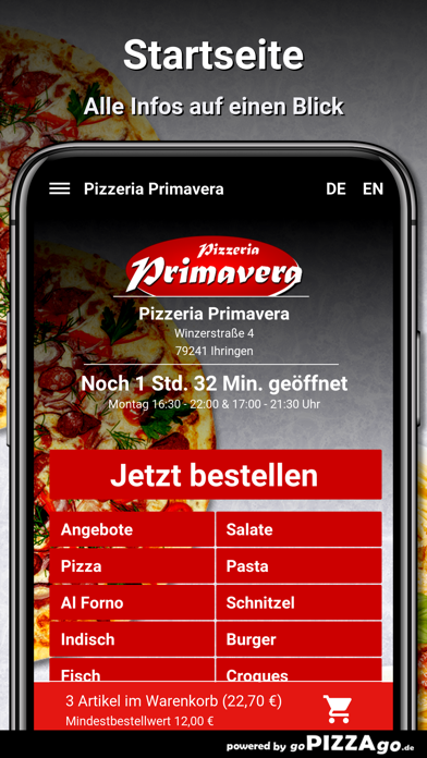 Pizzeria Primavera Ihringen screenshot 2