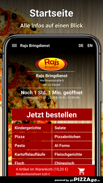Rajs Bringdienst Kassel screenshot 2
