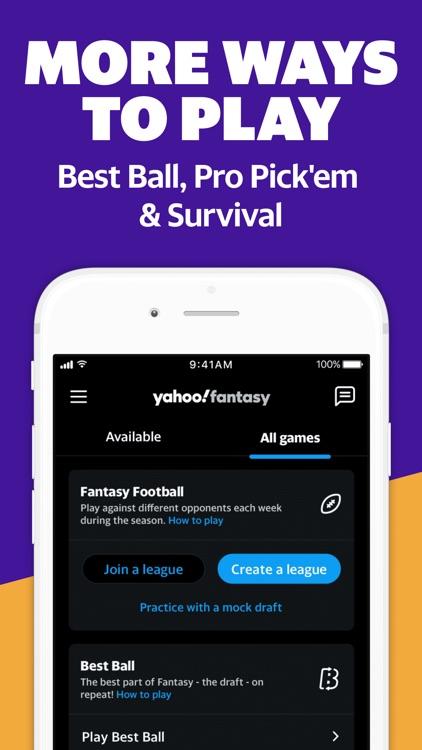 Yahoo Fantasy Football & Daily screenshot-4