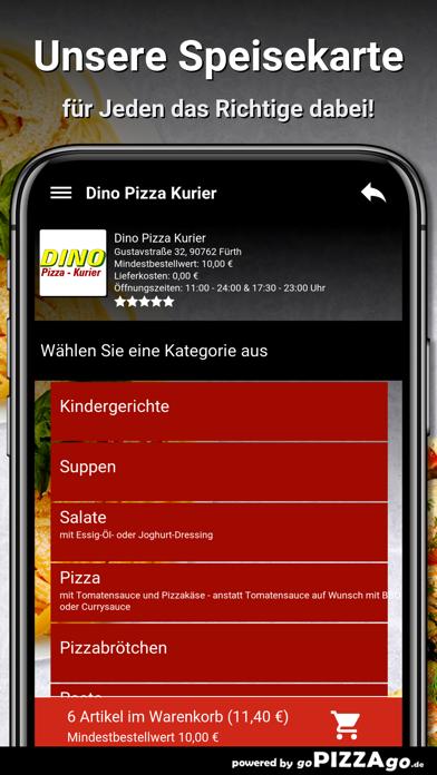 Dino Pizza Kurier Fürth screenshot 3