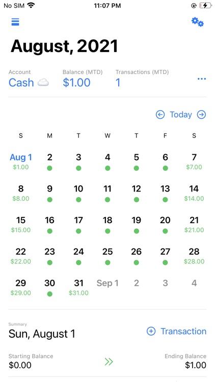 Cashflow Calendar screenshot-4