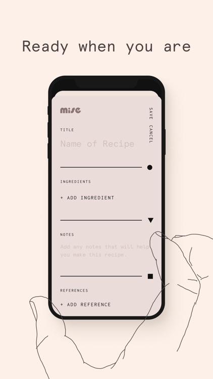 Mise: A minimalist recipe box screenshot-7