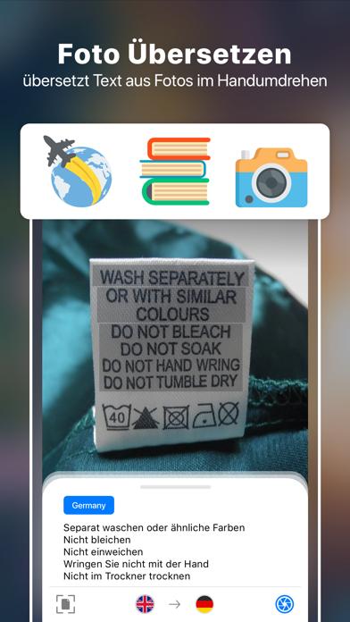 Foto Übersetzen+ Kamera scanScreenshot von 1
