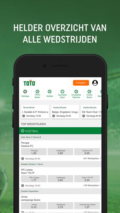 TOTO iPhone app afbeelding 3