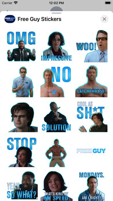 Free Guy Stickers screenshot 2