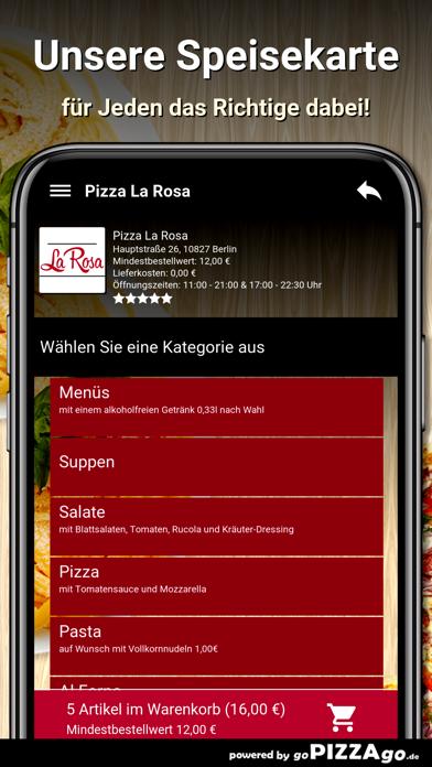 Pizza La Rosa Berlin screenshot 4