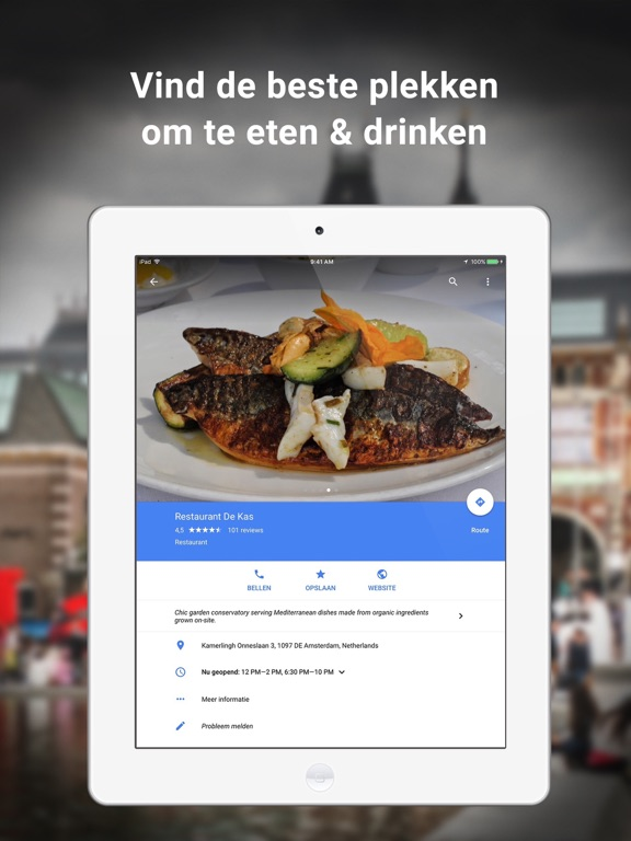 Google Maps iPad app afbeelding 3