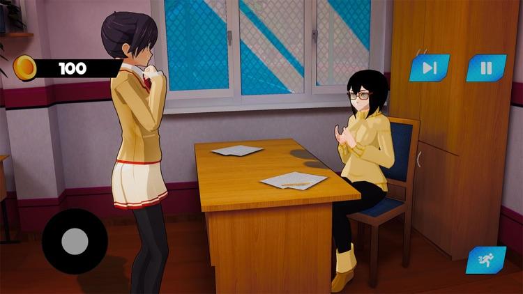 Sakura School Girl Life 3D screenshot-3