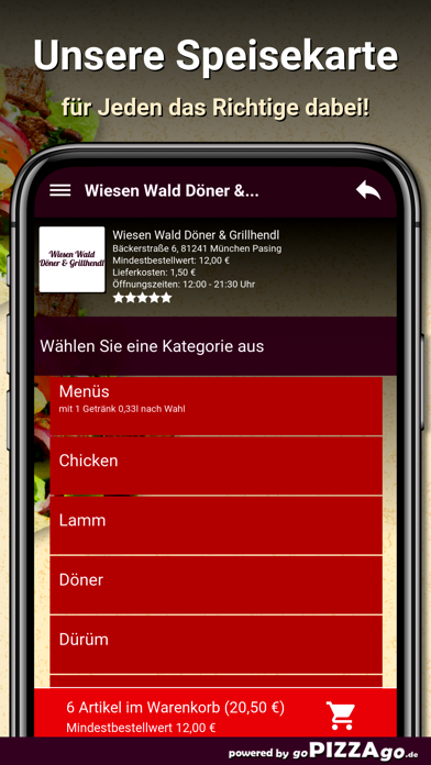 Wiesen Wald Döner screenshot 3
