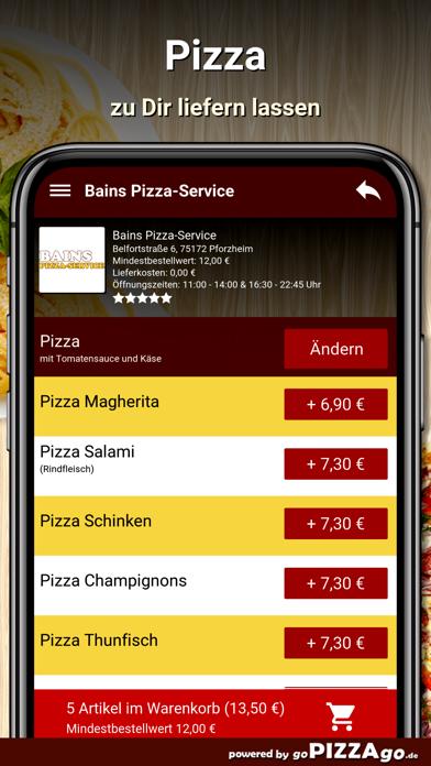 Bains Pizza-Service Pforzheim screenshot 5