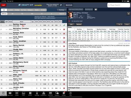 Fantasy Football Draft Kit '21 screenshot 6