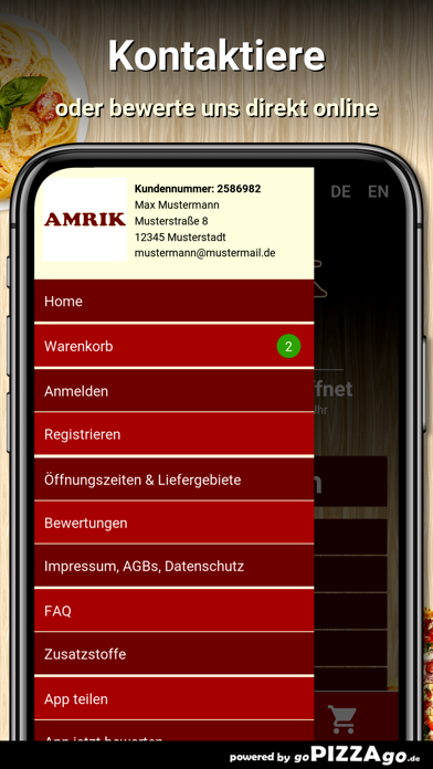 Amrik Pizzaservice Meitingen screenshot 3