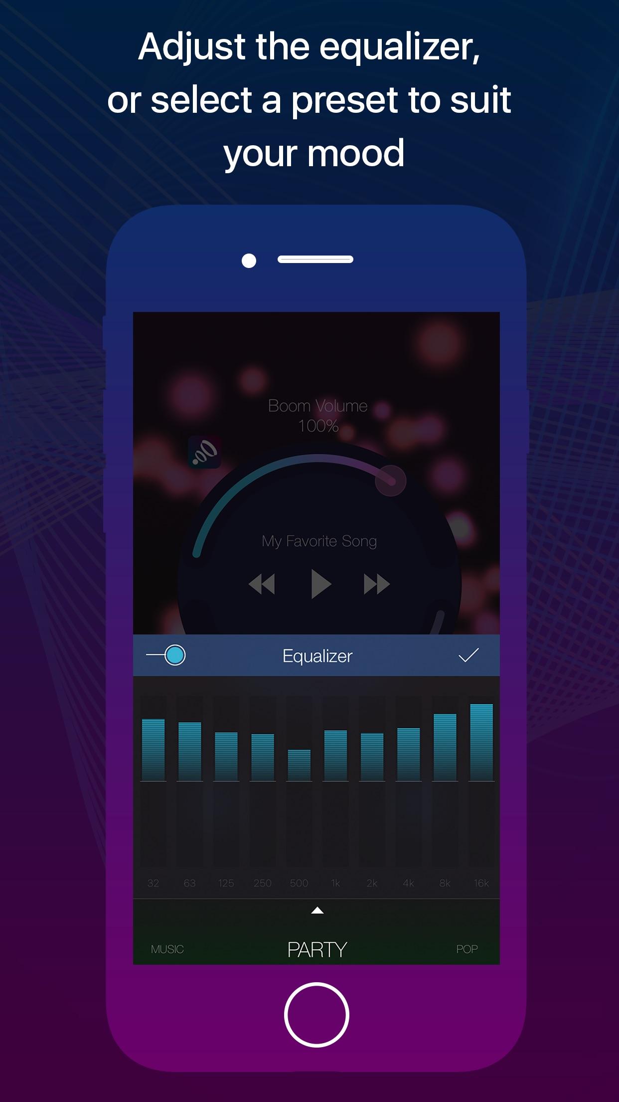 Screenshot do app Boom Remote
