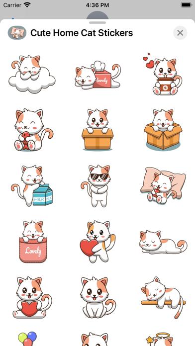 Cute Home Cat Stickers screenshot 2