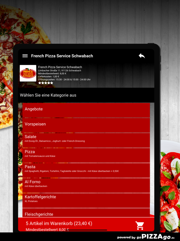 French Pizza Service Schwabach screenshot 8