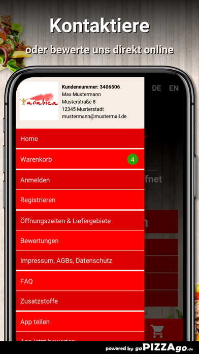 Pizzeria Arabica Bad Bentheim screenshot 3
