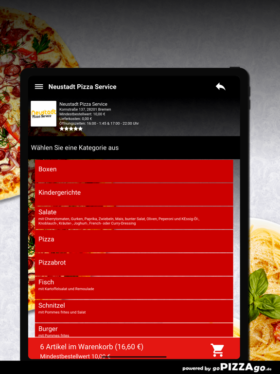 Neustadt Pizza Service Bremen screenshot 8