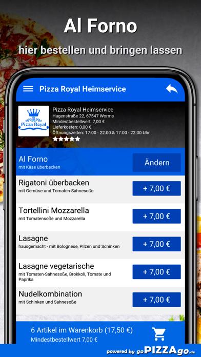 Pizza Royal Heimservice Worms screenshot 6