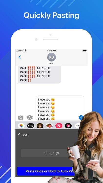Auto Keyboard Paste Text Copy