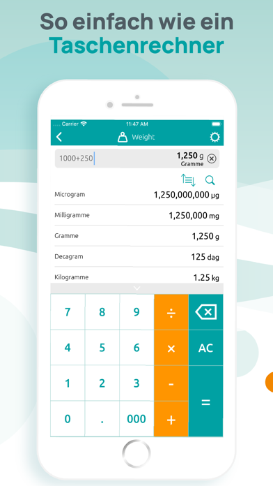 Einheitenrechner - UmrechnerScreenshot von 3