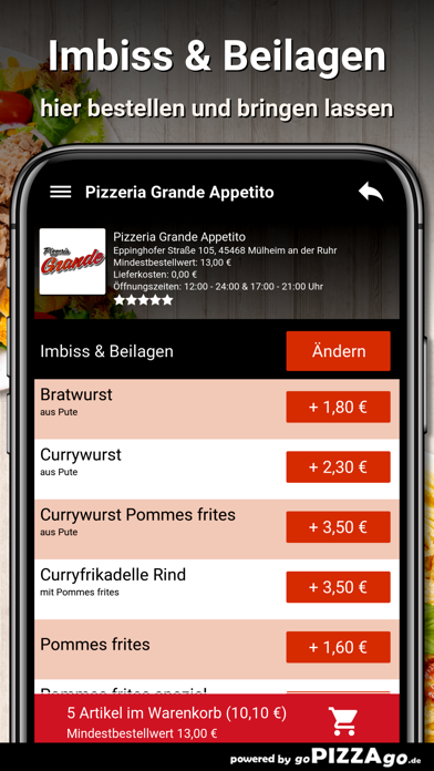 Pizzeria Grande Appetito Mülhe screenshot 6