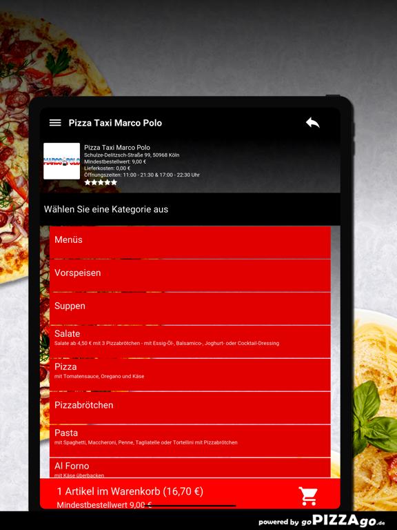 Pizza Taxi Marco Polo Köln screenshot 8