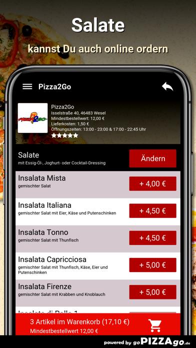 Pizza2Go Wesel screenshot 5