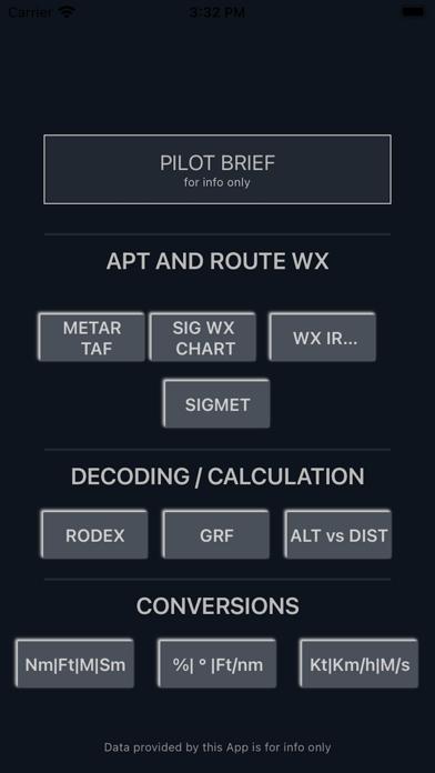 Screenshot 1 of Pilot Brief App