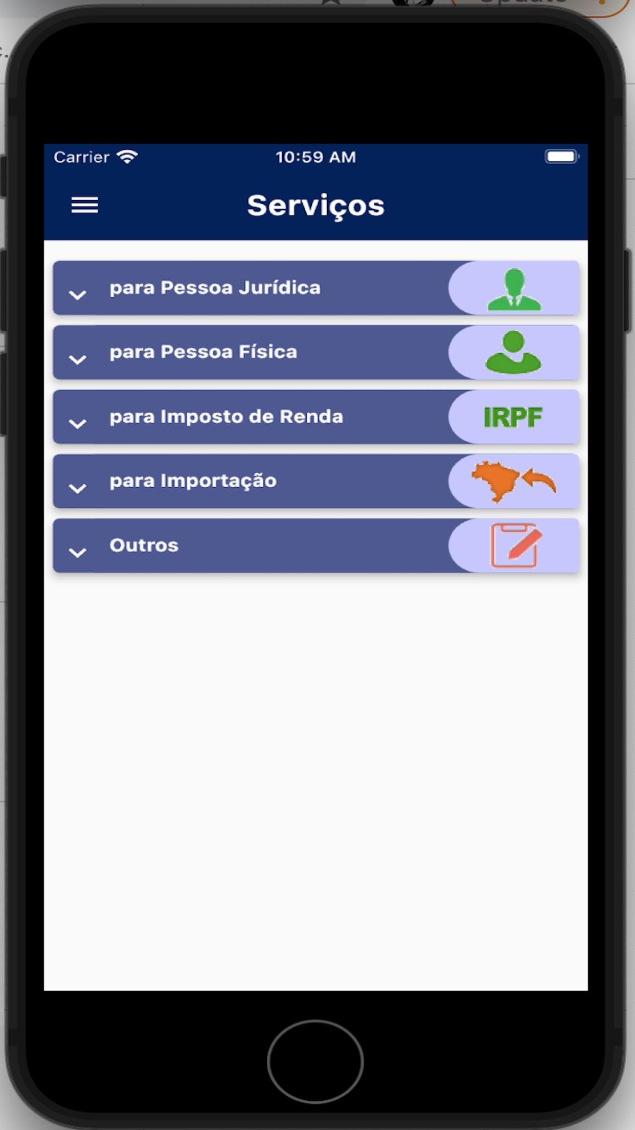 Screenshot do app Receita Federal